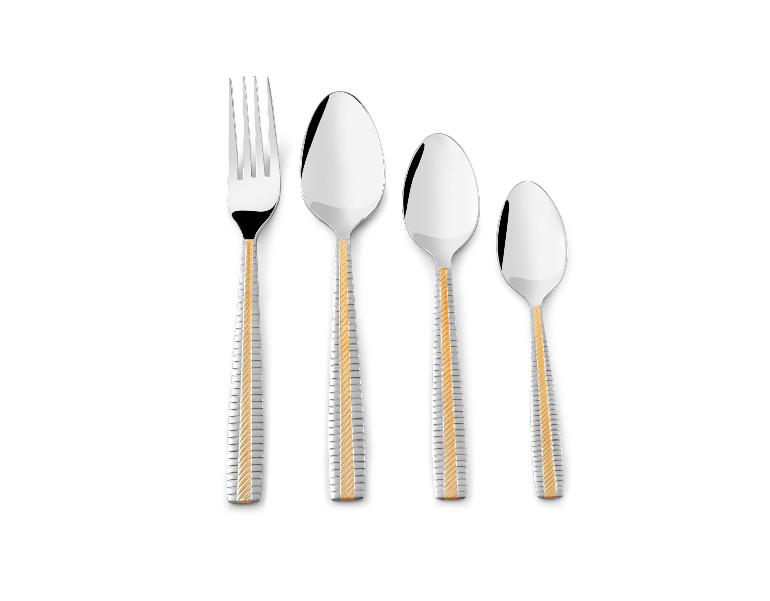 24pc Stylish Kitchen Stainless Steel Cutlery Set Tableware Dining utensils